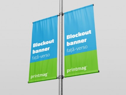 Blockout banner fata-verso