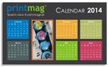 Calendar birou personalizat 2014, simplu modern black