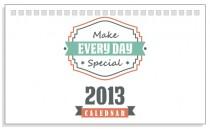 Calendar de birou 2014 motivational, vintage