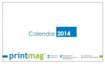 Calendar 2014 de birou, modern blue